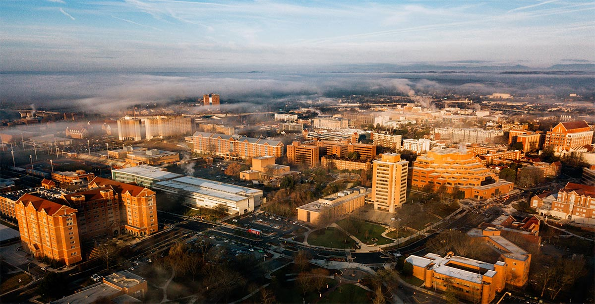 Aerial View of the University of Tennessee, Knoxville
